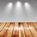 Wizerunek perspektywiczny drewno stół na białym tle Zdjęcie Royalty Free