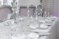 Wizerunek piękny ślubu stołu set Zdjęcia Royalty Free