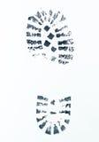 Wizerunek prawy buta druk Zdjęcia Stock