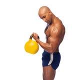 Wizerunek przepocony bodybuilder fotografia stock