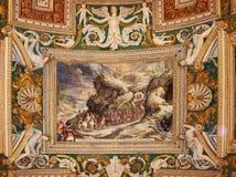 Wizerunek religijne sceny na suficie zdjęcia royalty free