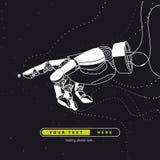 Wizerunek robot ręka na drutach Sztuczna inteligencja przyszłość ilustracji