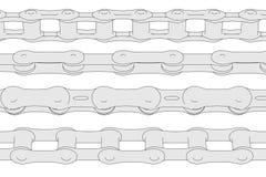 Wizerunek rowerów łańcuchy ilustracja wektor