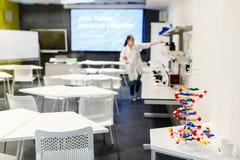 Wizerunek sala lekcyjna dla ćwiczy chemii zdjęcie stock