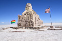 Wizerunek sculpted w solankowym Dakar zdjęcia stock