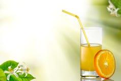 wizerunek soku pomarańczowego zbliżenie obraz stock