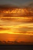 Spektakularny tropikalny zmierzch, Mauritius Zdjęcie Stock