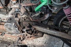 Wizerunek stary parowozowy motocykl dla naprawy Fotografia Royalty Free