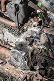 Wizerunek stary parowozowy motocykl dla naprawy Obraz Royalty Free