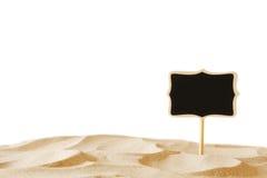 Wizerunek tropikalna piaskowata plaża i pustego miejsca chalkboard podpisujemy Zdjęcia Royalty Free