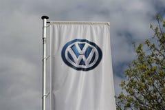 Wizerunek Volkswagen logo Lemgo, Niemcy/- 2017 Kwiecień 29 - VW - Obrazy Royalty Free