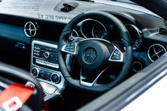 Wizerunek wśrodku Mercedez Benz SLC 43 Zdjęcia Royalty Free