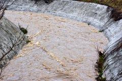 Wizerunek wodna strumień powódź z silnym prądem, Sarajevo, Europa, 03 02 2018 Zdjęcia Stock