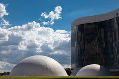 Wyższy Elektoralny sąd z kopułami w Brasilia zdjęcie royalty free