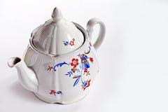 Stary teapot na białym tle Obrazy Royalty Free
