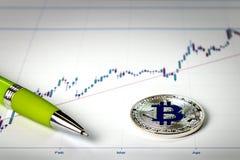 Wizerunek z bitcoin znakiem Obrazy Stock