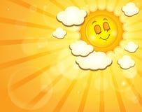 Wizerunek z szczęśliwym słońce tematem 4 Zdjęcia Stock