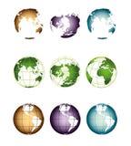 Wizerunek ziemia od różnych stron Obrazy Royalty Free