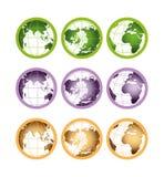 Wizerunek ziemia od różnych stron royalty ilustracja