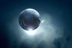 Wizerunek ziemska planeta w przestrzeni Zdjęcie Royalty Free