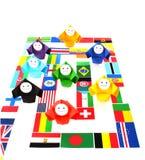 wizerunków konceptualni stosunki międzynarodowe Zdjęcia Stock