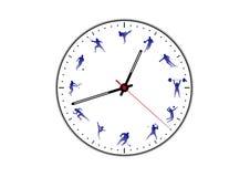 Wizerunków rodzaje sporty na zegarowej tarczy royalty ilustracja
