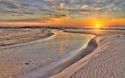 wizerunku seascape zmierzch Obrazy Royalty Free