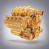 Wizerunku silnik na popielatym tle Obraz Royalty Free