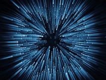 Wizualizacja Poruszające cyfry Fotografia Stock