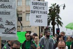 Wizualnych skutków artystów protest podczas nagród filmowa Zdjęcia Stock