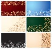 wizytówek elementów ozdobny set Zdjęcia Royalty Free