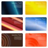 wizytówek koloru setu sześć wariantów wektor Zdjęcia Stock