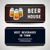 Wizytówka Dla piwo domu royalty ilustracja