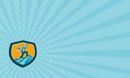 Wizytówka Halnego arywisty dojechania szczytu Retro osłona Obraz Royalty Free