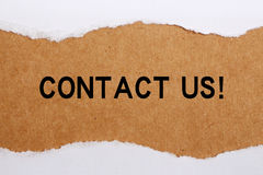 wizytówka kontakt my biały obraz royalty free
