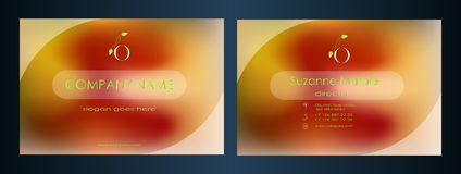 Wizytówka projekt dla firmy odwiedza karcianego kreatywnie podejście Zdjęcia Stock