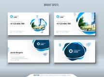 Wizytówka projekt Wizytówka szablon dla osobistego, korporacyjnego use z lub dostrzega elementy ilustracji