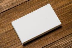wizytówka pusty biel zdjęcie stock