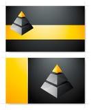 wizytówka szablon Zdjęcia Stock