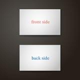 Wizytówka szablon w koloru dwa stronie Zdjęcie Royalty Free