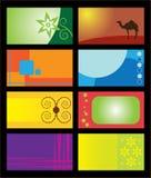 wizytówka szablony Zdjęcie Stock