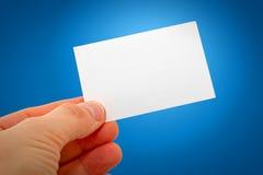 Wizytówka w ręce Zdjęcie Stock