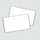 Wizytówka z cienia mockup okładkowym szablonem Obrazy Stock
