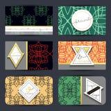 Wizytówka z geometrycznymi wzorami Karciany nowożytny styl Zdjęcie Royalty Free