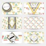 Wizytówka z geometrycznymi wzorami Karciany nowożytny styl Zdjęcie Stock