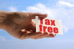 Wizytówka z podatkiem uwalnia inskrypcję Zdjęcia Royalty Free