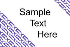wizytówki klamerek papier Zdjęcia Stock
