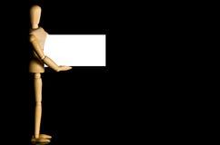 wizytówki mienia mannequin Fotografia Stock