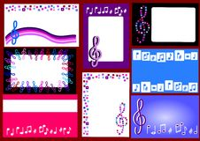 wizytówki muzykalne Obraz Stock