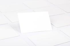 Wizytówki odizolowywać na bielu Zdjęcie Stock